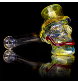 "Bob Snodgrass SOLD 5"" Glass Pipe DRY MR. Happy by Bob Snodgrass SFG.202"
