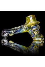 "Bob Snodgrass 5"" Glass Pipe DRY UV Top Hat w/ Leaf & Stars by Bob Snodgrass SFG.2020"