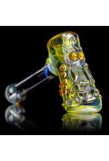 """Ginny Snodgrass-Gietl 5"""" Glass Pipe DRY UV Owl by Ginny Snodgrass-Gietl SFG.2020"""