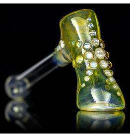 """Ginny Snodgrass-Gietl 5"""" Glass Pipe DRY Clear Jewel (B) by Ginny Snodgrass-Gietl SFG.2020"""