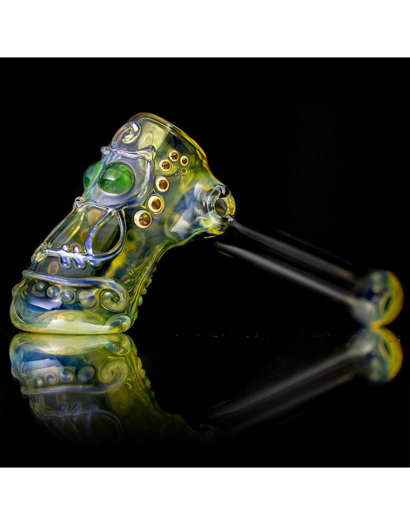"Ginny Snodgrass-Gietl 5"" Glass Pipe DRY Owl (D) by Ginny Snodgrass-Gietl SFG.2020"