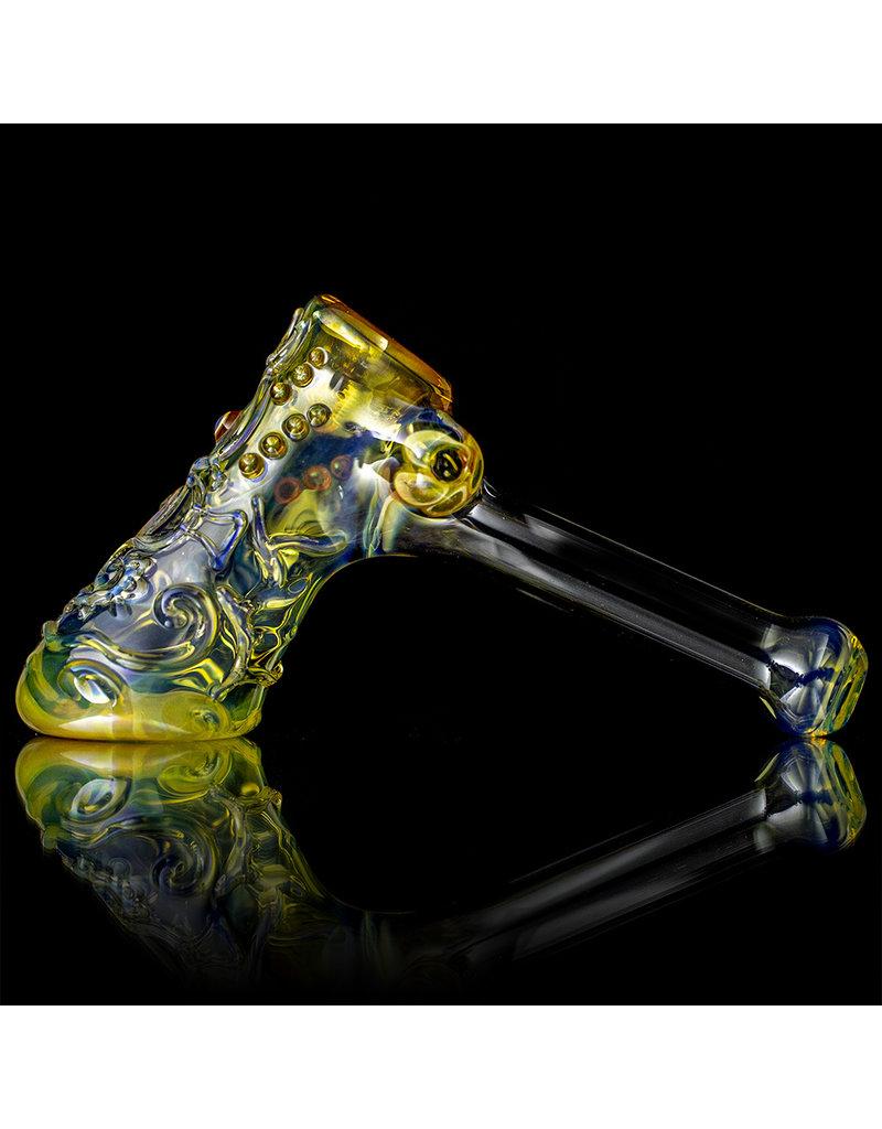 """Ginny Snodgrass-Gietl 5"""" Glass Pipe DRY Seahorse (B) by Ginny Snodgrass-Gietl SFG.2020"""
