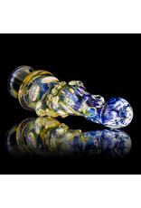 """Bob Snodgrass 5"""" Glass Chillum Pipe DRY Chillum (D) by Bob Snodgrass SFG.2020"""