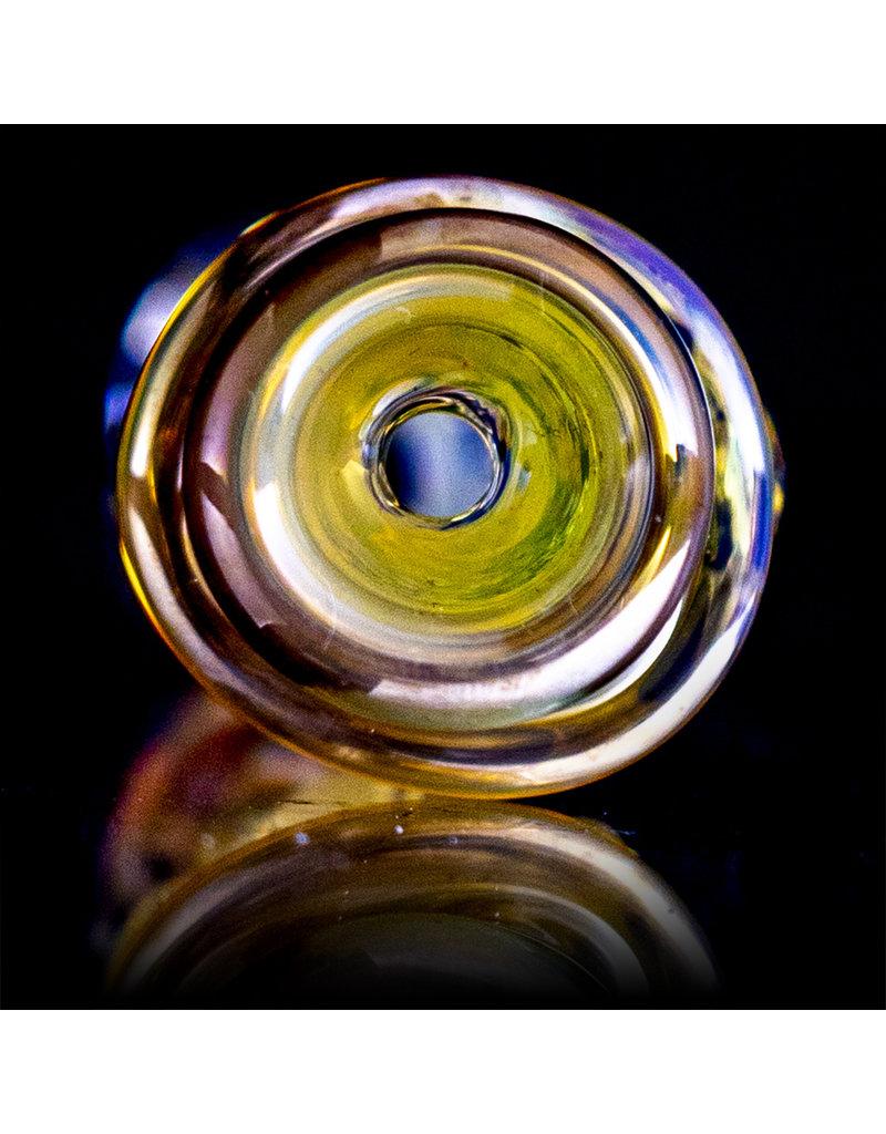 """Bob Snodgrass 5"""" Glass Chillum Pipe DRY Chillum (C) by Bob Snodgrass SFG.2020"""
