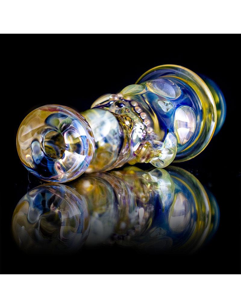 """Bob Snodgrass 5"""" Glass Chillum Pipe DRY Chillum (A) by Bob Snodgrass SFG.2020"""