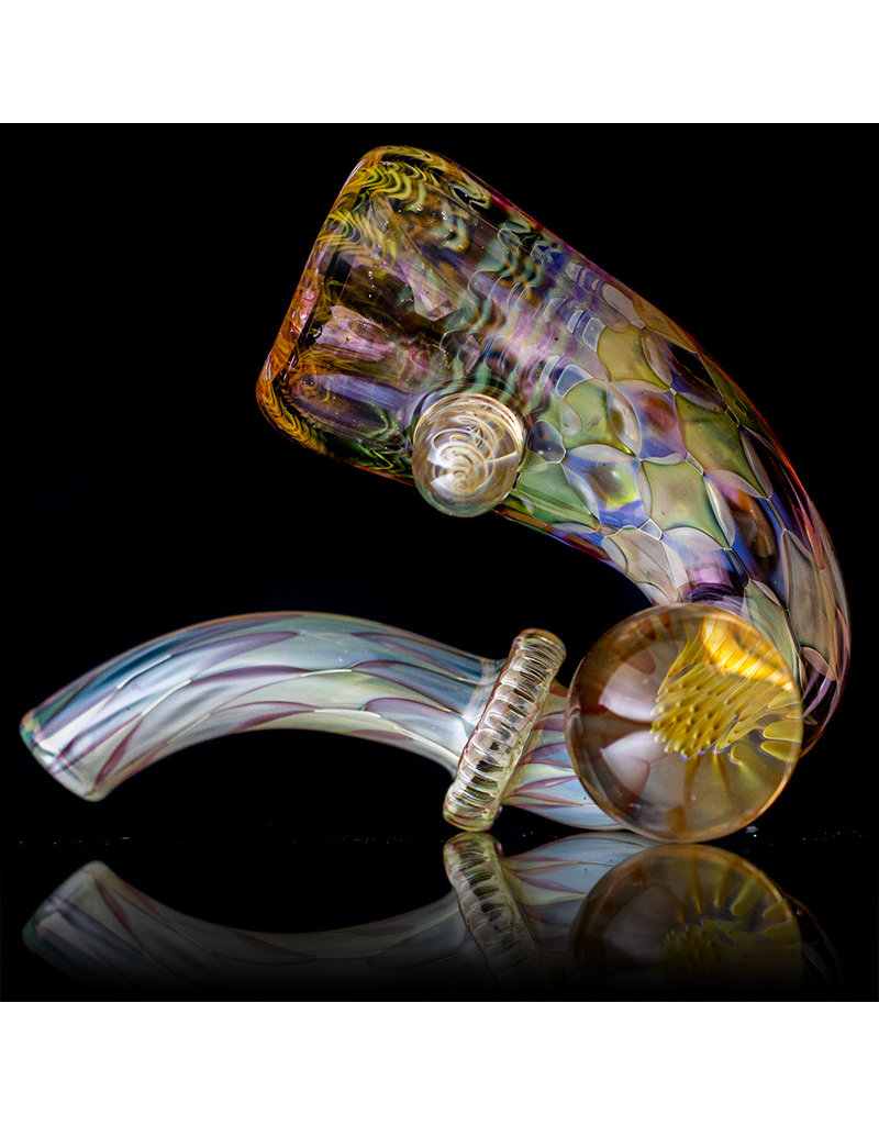 """Evan Cals 4"""" Glass Pipe Dry Fume Upright Sherlock (H) by Evan Cals"""