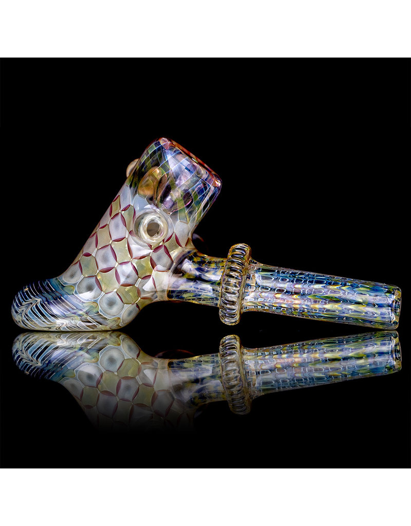 "Evan Cals 6"" Glass Hammer Pipe DRY Fume Hammer (H) by Evan Cals"