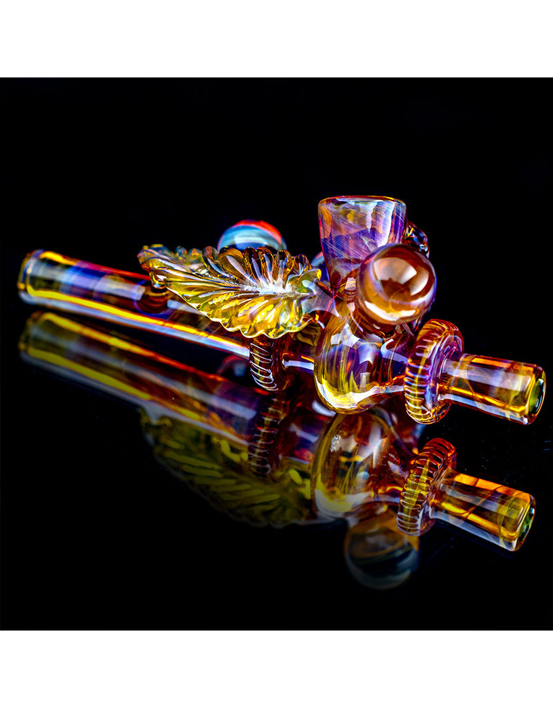 "Evan Cals 6"" Glass pipe DRY Peace Pipe by Evan Cals"