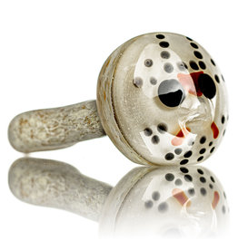 "Stone Tech Glass DOCTOBER.2020 5"" Glass Pipe DRY HOCKEY MASK SLASHER (B) by Stone Tech Glass"
