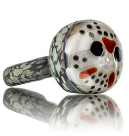 "Stone Tech Glass SOLD DOCTOBER.2020 5"" Glass Pipe DRY HOCKEY MASK SLASHER (C) by Stone Tech Glass"