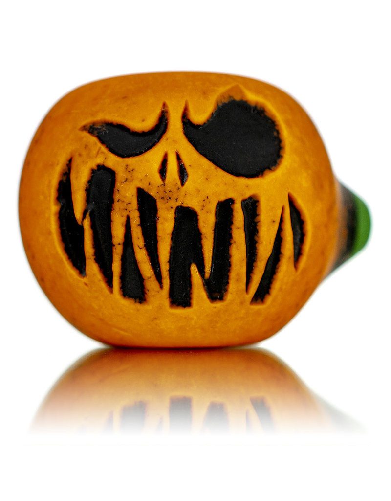 """Witch DR DOCTOBER 2020 5"""" Frosted Orange Frit Pumpkin Dry Pipe H by Witch Dr Studio"""