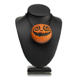 Witch DR DOCtober 2020 Frosted Large Orange Frit Pendant A by Witch DR
