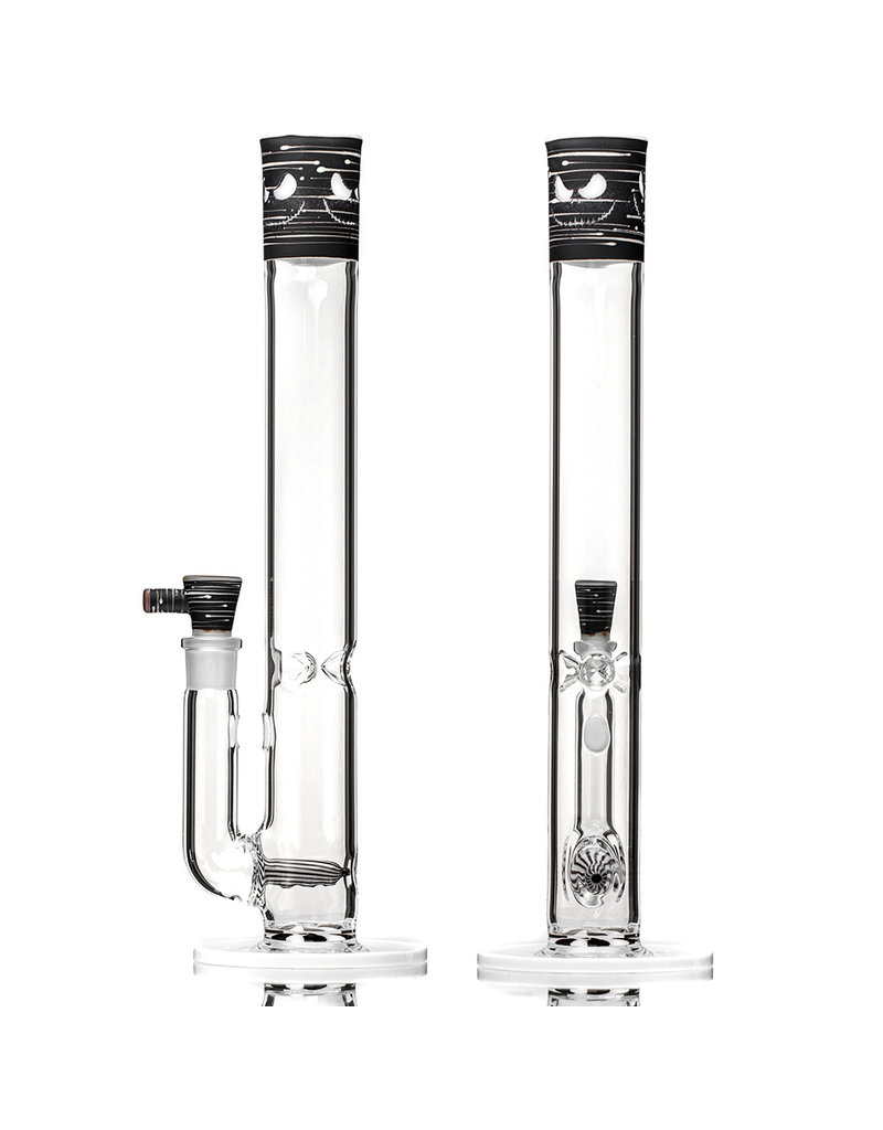 """Witch DR 18mm 44x4 15"""" Engelmann Black Birch Heady Topper Jack Glass Water Bong (A) with Matching Slide by Witch DR"""