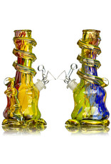 """Special K 14mm 8"""" Special K Soft Glass Water Bong Small Wrapped Color (AE) w/ downstem and slide"""