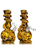 """Special K 14mm 8"""" Special K Soft Glass Water Bong Small Wrapped Color (AB) w/ downstem and slide"""