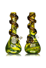 """Special K 14mm 8"""" Special K Soft Glass Water Bong Small Wrapped Color (AA) w/ downstem and slide"""