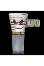 Witch DR 18mm Bong Bowl Slide with 4 Hole Glass Screen and Handle LARGE Amber Jack Betula Birch