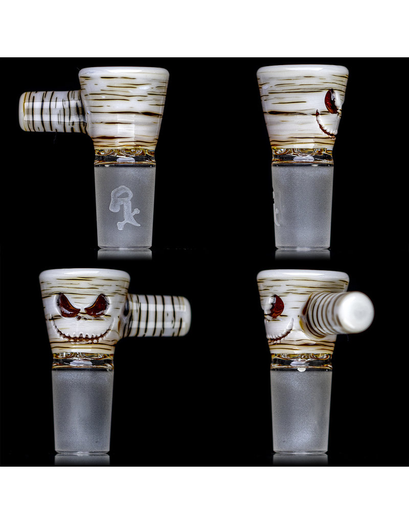 Witch DR 18mm Bong Bowl Slide with 4 Hole Glass Screen and Handle Cherry Jack Betula Birch