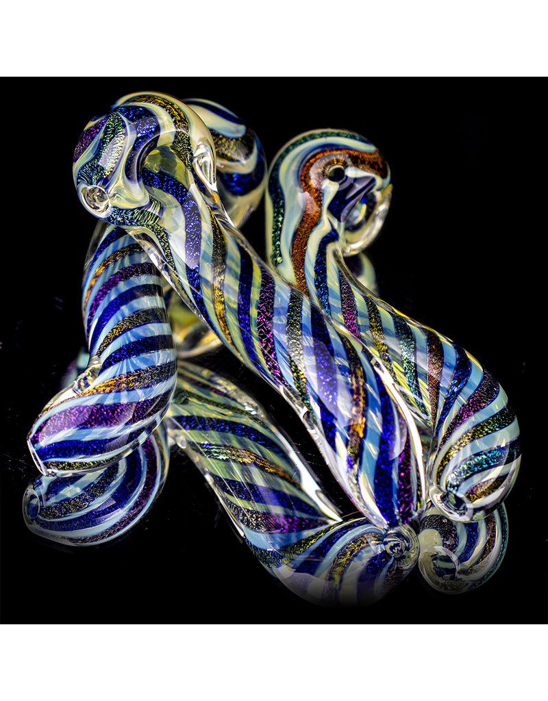 "6"" Fume Dichro Twisted Sherlock by California Glass ONLINE"