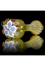 "4"" Glass Dry Pipe Pinwheel Flower Spoon by Cherry City Glass (C)"