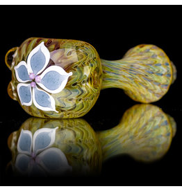 "4"" Glass Dry Pipe Pinwheel Flower Spoon by Cherry City Glass (C)"