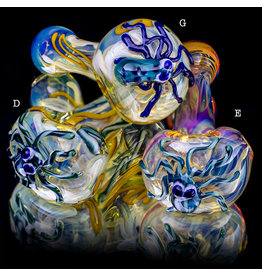 "4"" Glass Dry Pipe Critter Octopus Pipe (D) for use with dry herbs by BH Glass"