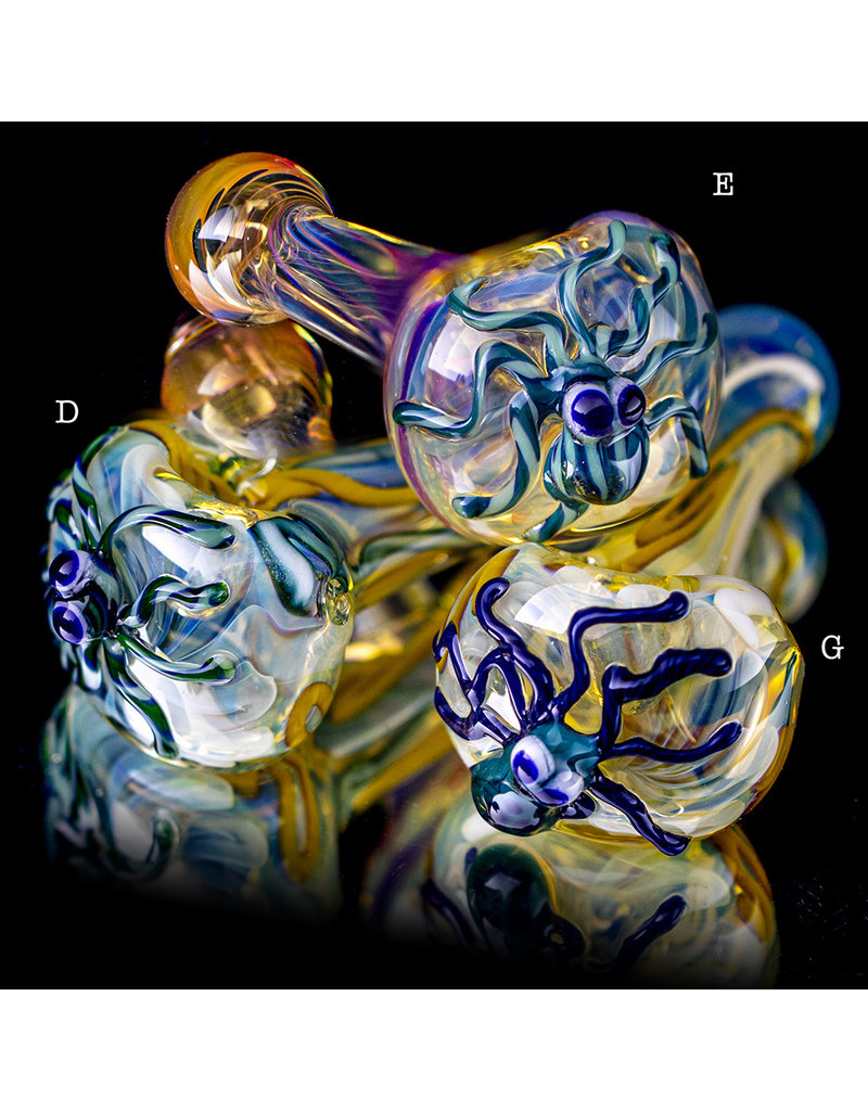 "4"" Glass Dry Pipe Critter Octopus Pipe (G) for use with dry herbs by BH Glass"