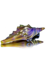 """Christina Cody 6"""" Glass Dry Pipe Frosted Glass PURPLES (D) Seashell by Christina Cody"""
