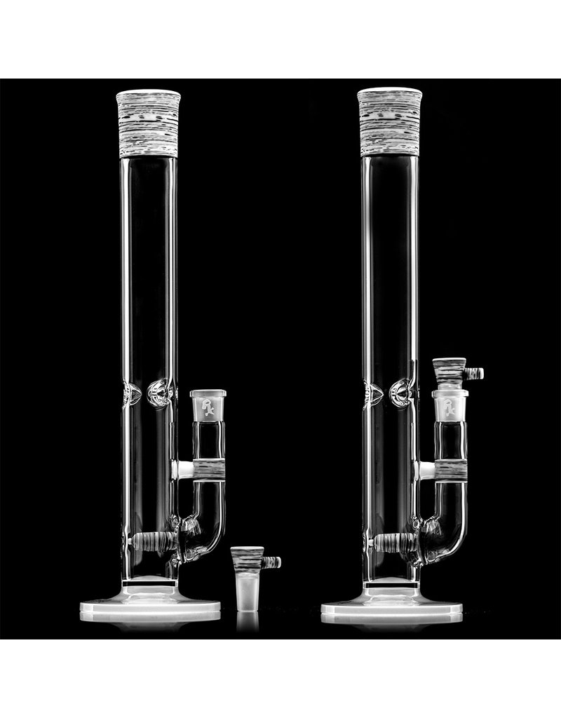 """Witch DR 16"""" 18mm 44x4 Engelmann Betula Birch Heady Topper Bong (B) with Matching Slide by Witch DR Studio"""