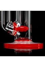 """Witch DR 18mm 44x4 14"""" Glass Water Bong with Matching Slide Rx Color Inline CHERRY"""