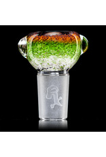 """Witch DR 18mm 44x4 14"""" Glass Water Bong with Matching Slide Rx Color Inline SEA SLYME"""