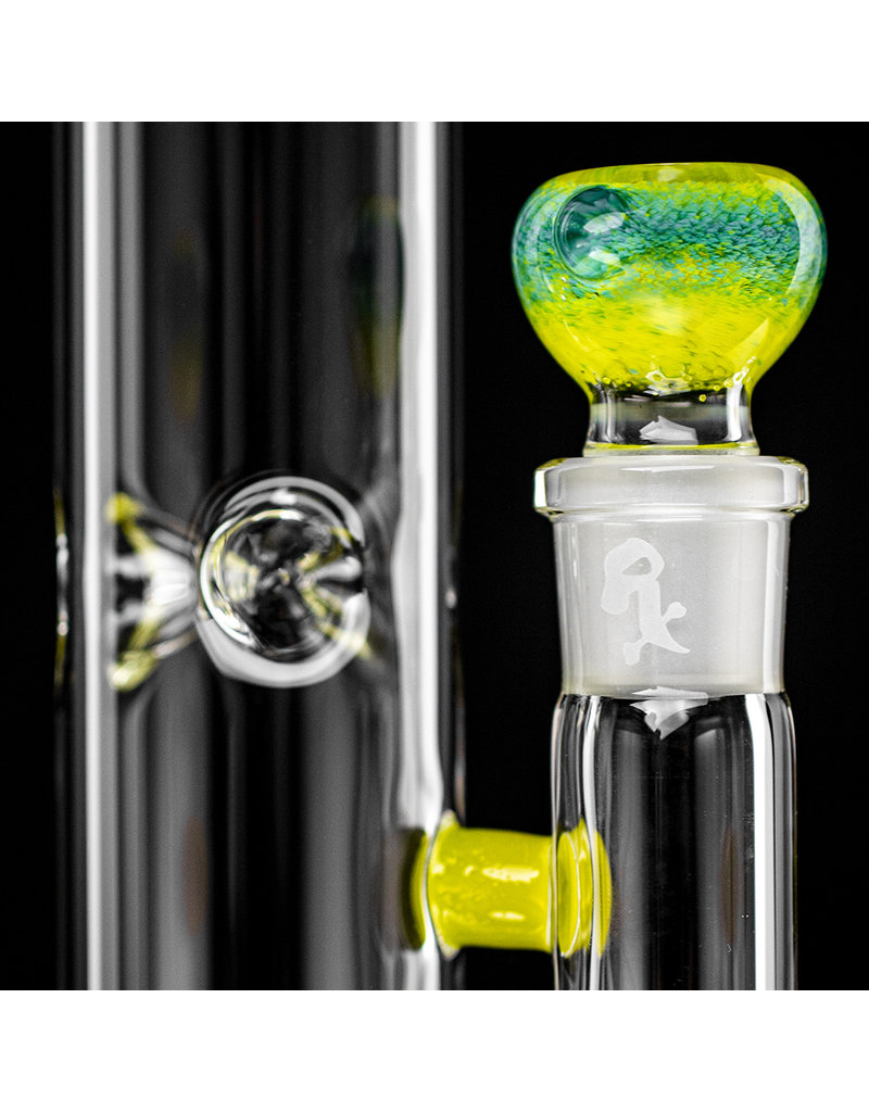 "Witch DR 18mm 44x4 14"" Glass Water Bong with Matching Slide Rx Color Inline CHARTREUSE"