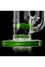 """Witch DR 18mm 44x4 14"""" Glass Water Bong with Matching Slide Rx Color Inline SHAMROCK"""
