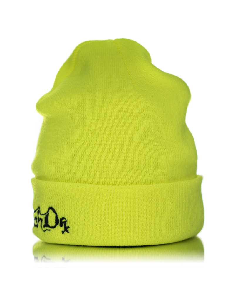 Witch DR Witch DR Embroidered Fleece Lined Beanie NEON