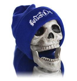 Witch DR Witch DR Embroidered Fleece Lined Beanie BLUE