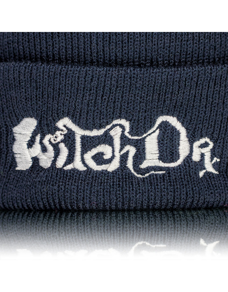 Witch DR Witch DR Embroidered Fleece Lined Beanie PINK