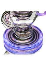 "14mm 7"" Color Ball Rig Dynamic Glass (J) Purple Lilac"