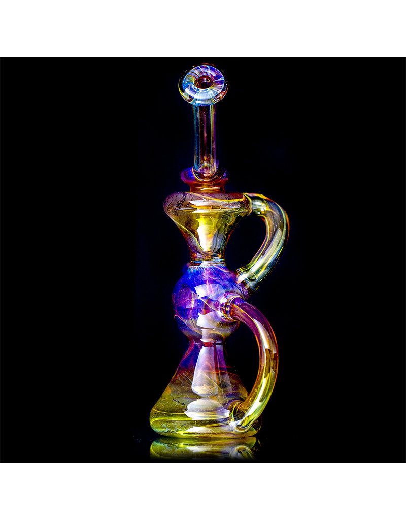 "10mm 8"" Pink Mai Tai Klein Recycler Dab Rig with matching slide by Mohawk"
