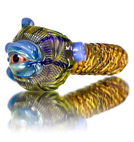 "Pubz Glass SOLD 5"" Glass Dry Pipe Pubz Crawlerz Eye Pipe (D) by Pubz Glass"
