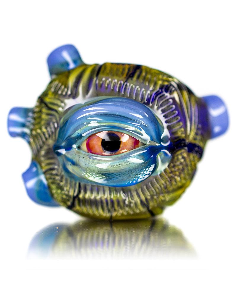 """Pubz Glass 5"""" Glass Dry Pipe Pubz Crawlerz Eye Pipe (D) by Pubz Glass"""