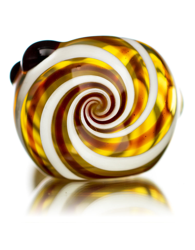 "5"" Glass Pipe Dry Large Twist Spoon (B) by SW Glass"