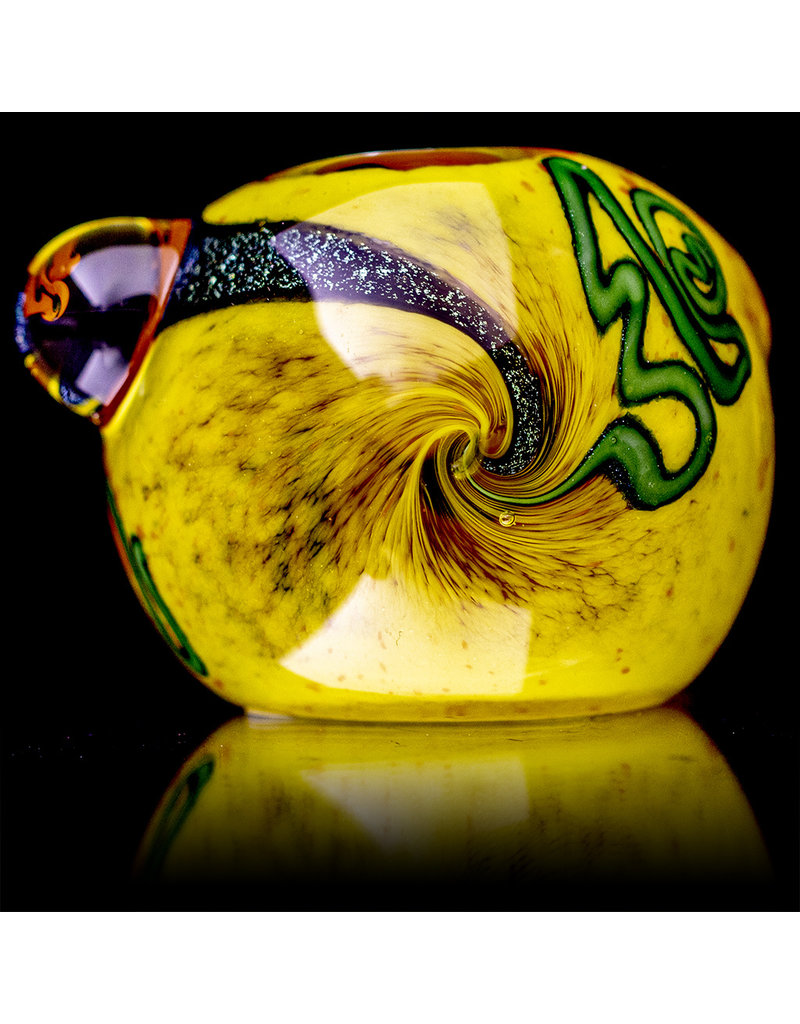 """5"""" Glass Dry Pipe Frit with Dichro Glass Accents (G) by BH Glass"""