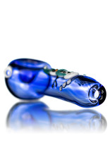 """4"""" Glass Pipe Dry Azul Scarf Snowman on Cobalt by KC"""