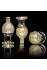 25mm Marbled Glass Bubble Carb Cap by Messy Glass (H) Yellow Pearl