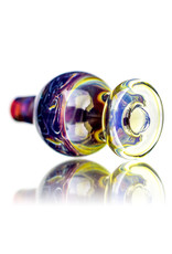 25mm Marbled Glass Bubble Carb Cap by Messy Glass (F) Loki's Lipstick