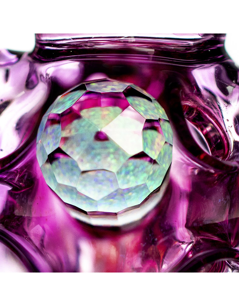 "9"" Double Uptake Exo-Incycler by Dynamic Glass Gold Ruby x Dichro x Gold Amethyst x Telemegenta x Royal Jelly"