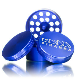 "4 Piece 2.0"" BLUE Anodized Aluminum Grinder by PIRANHA"