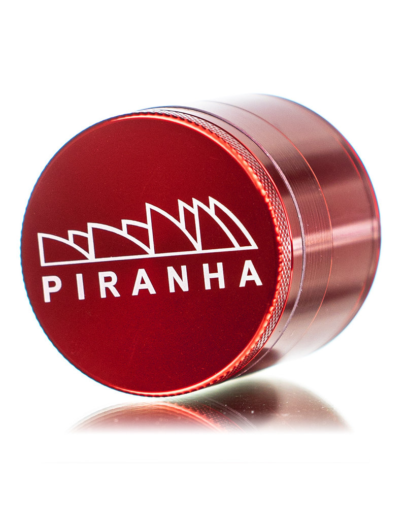 """4 Piece 2.0"""" RED Anodized Aluminum Grinder by PIRANHA"""