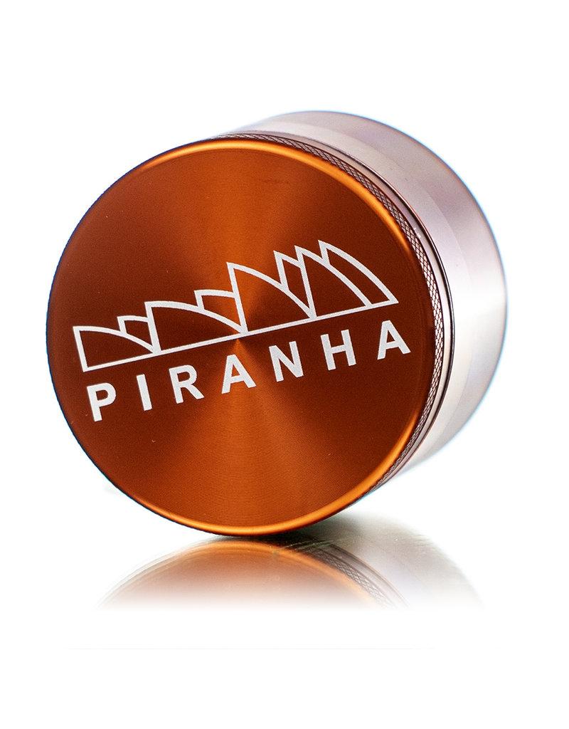 "4 Piece 2.0"" ORANGE Anodized Aluminum Grinder by PIRANHA"