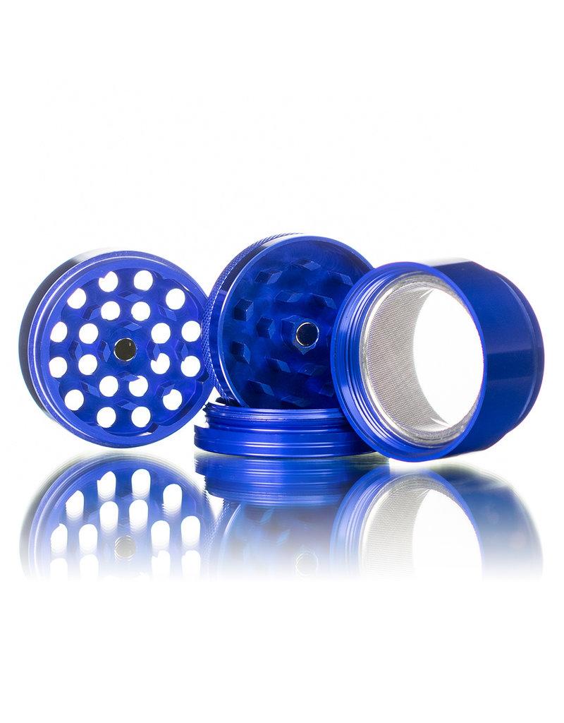 "4 Piece 2.0"" BLUE Anodized Aluminum Grinder by PIRANHA"